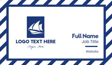 Sailboat Sailing Boat Business Card