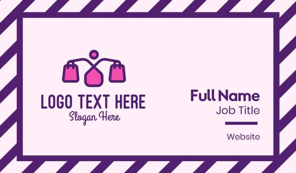 discount - Pink Women Fashion Shopping  Business card horizontal design