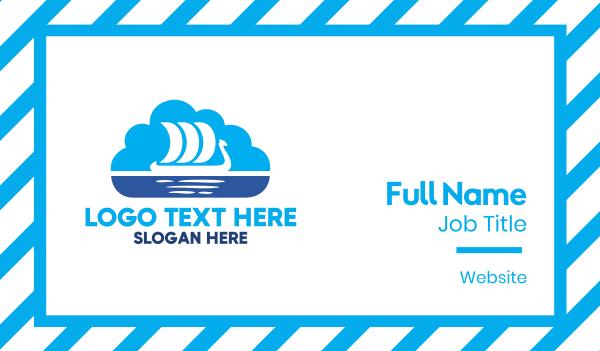 travel agent - Nordic Cloud Business card horizontal design