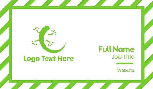 green lizard - Green Gecko Business card horizontal design