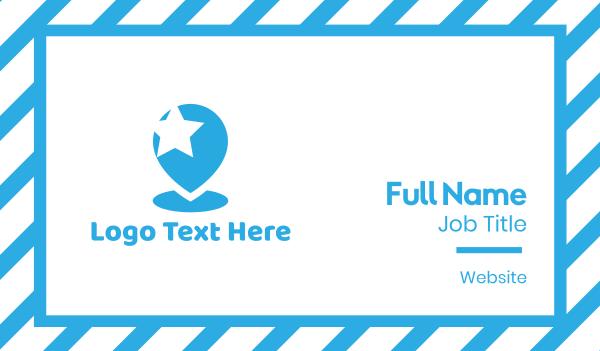 talent - Star Pin Business card horizontal design