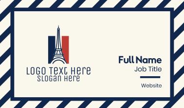 Eiffel Tower France Flag  Business Card