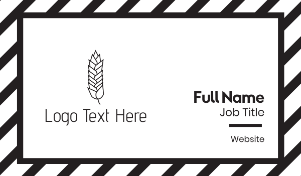 cereal - Whole Wheat Business card horizontal design