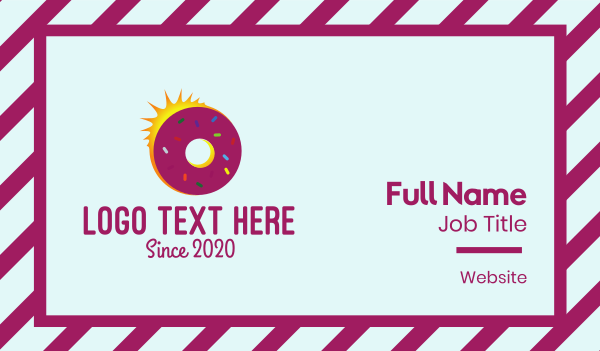 sprinkle - Sunrise Doughnut Business card horizontal design