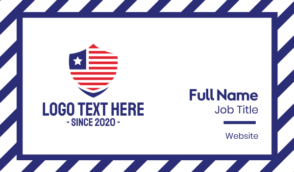 patriot - USA Security Badge Business card horizontal design