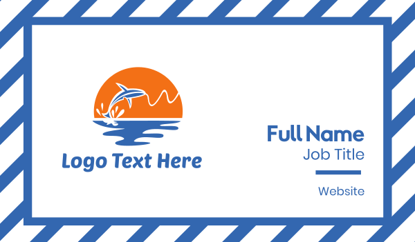 sailor - Fish & Bait Business card horizontal design