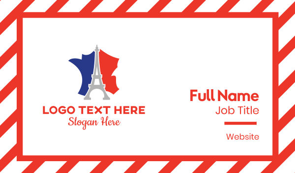france map - Eiffel France Business card horizontal design