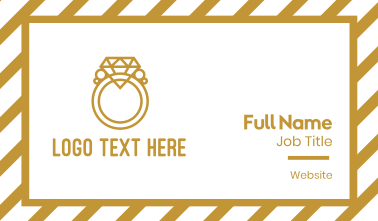Diamond Ring Outline Business Card