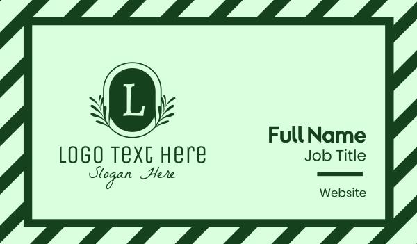 drinks - Vintage Plant Letter Business card horizontal design