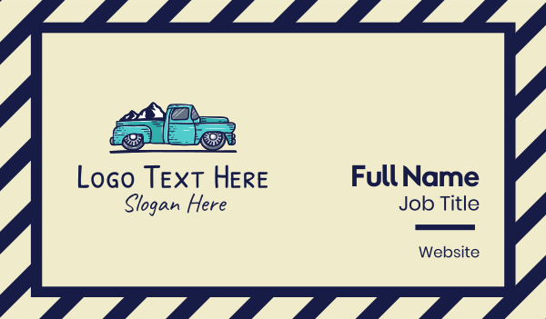 province - Mountain Road Truck Business card horizontal design