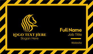 Yellow Stallion Mustang  Business Card