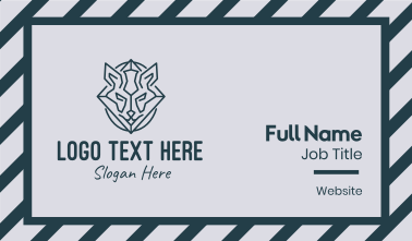 Minimal Fox Business Card