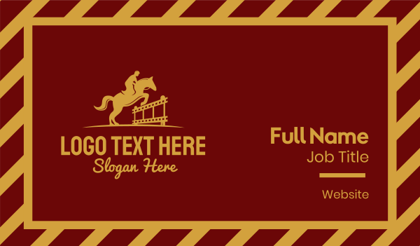 productions - Horse Riding Film Business card horizontal design