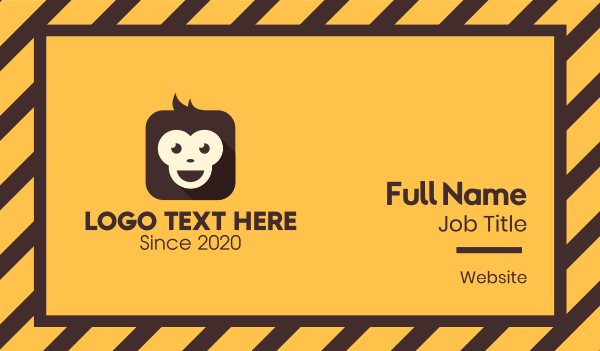 baboon - Monkey Mobile App Business card horizontal design