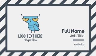 Sleepy Owl Business Card
