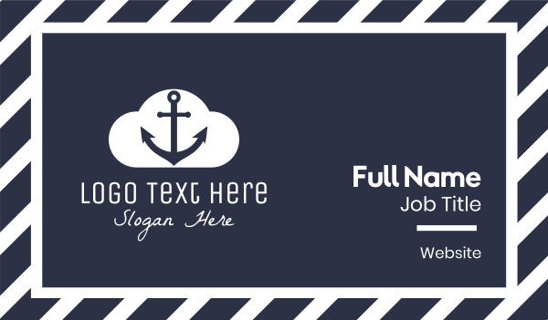 cruise liner - Anchor Cloud  Business card horizontal design