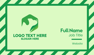 Green Leaf Dog Business Card