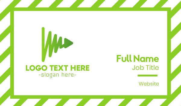 green arrow - Green Play Chart Business card horizontal design