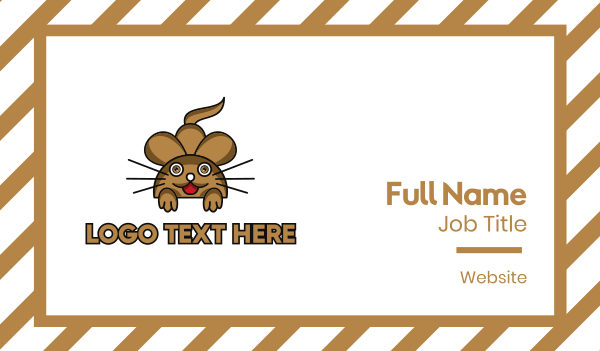 brown - Brown Mouse Outline Business card horizontal design