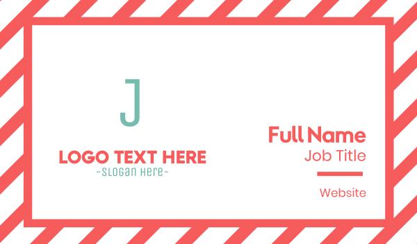 branding - Turquoise Letter J Business card horizontal design