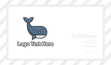 Cute Whale Business Card