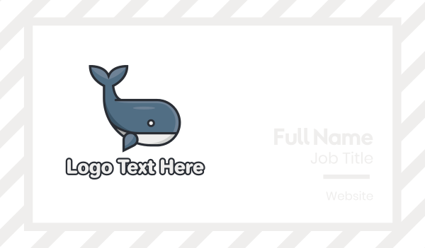 sea creature - Cute Whale Business card horizontal design