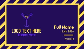Darts Drinking Bar Business Card