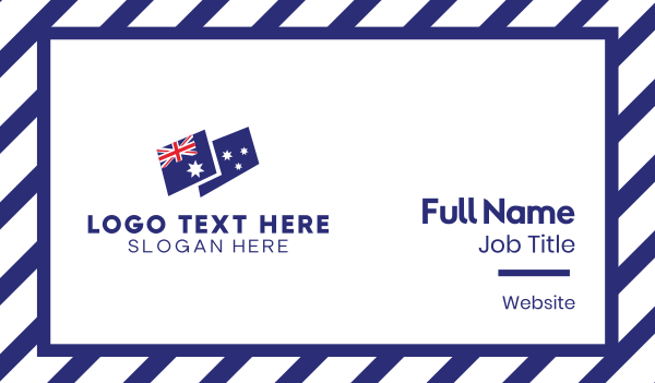 australian flag - Australia Flag Business card horizontal design