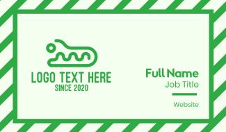 Green Wild Crocodile  Business Card