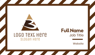 Number 3 Triangle Business Card