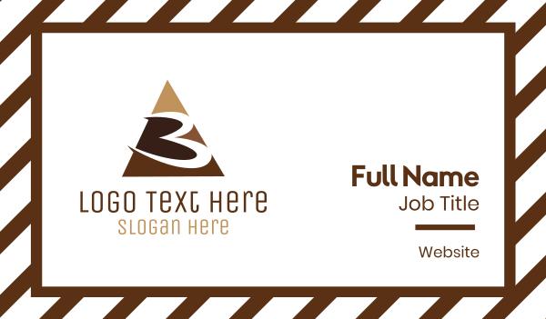 cacao - Number 3 Triangle Business card horizontal design