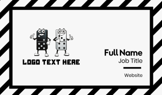 Two Dominoes Business Card