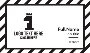 Black Tower Number 1 Business Card