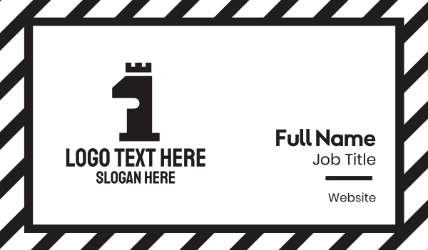 fortification - Black Tower Number 1 Business card horizontal design