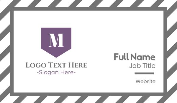purple girl - Elegant M Flag Business card horizontal design