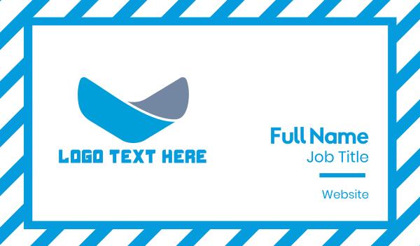 vertical - Blue Letter V Business card horizontal design