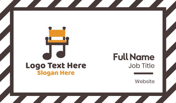 fittings - Music Chair Business card horizontal design