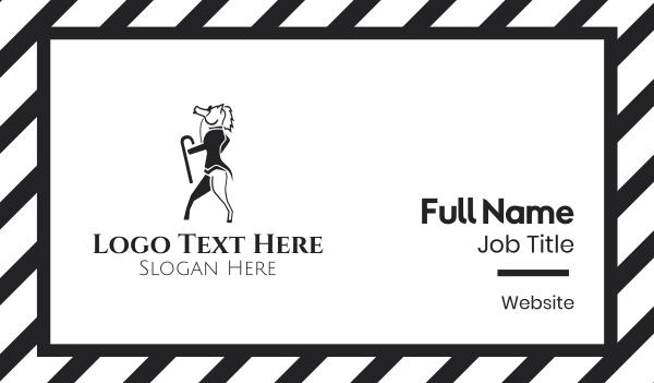 horse brand - Sir Horse Gentleman Business card horizontal design