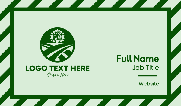 fields - Farm Field Tree Business card horizontal design