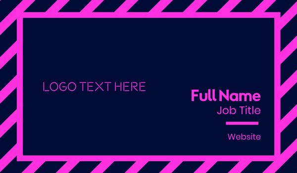hacker - Bright Neon Pink Text Business card horizontal design