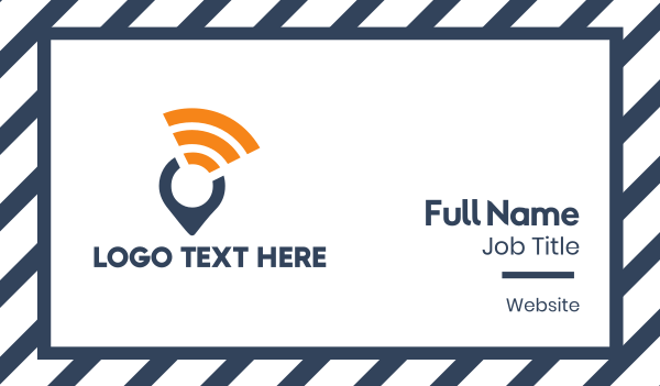 wireless - Wifi Locator Business card horizontal design