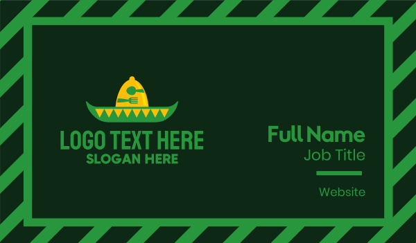 sombrero - Mexican Restaurant Business card horizontal design