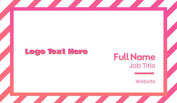 shadow - Fresh Pink Wordmark Business card horizontal design