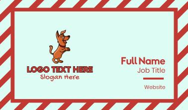 Happy Dog Cartoon Business Card