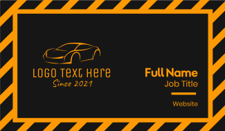 Orange Luxury Car  Business Card