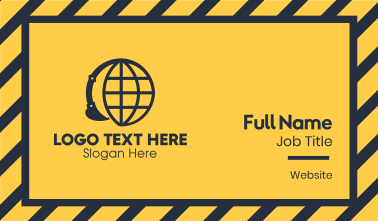 Global Construction Company Business Card