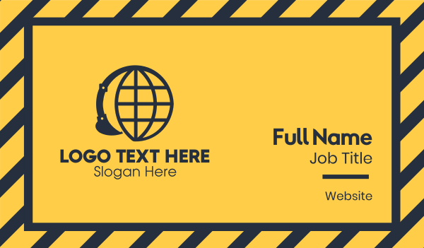 global business - Global Construction Company Business card horizontal design