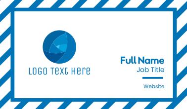 Tech Blue Circle Business Card