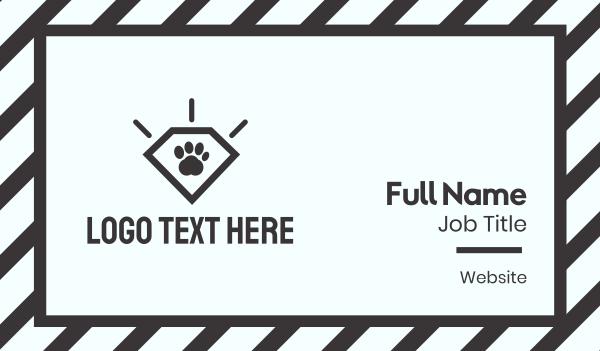 dog walker - Paw Diamond Business card horizontal design