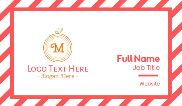 smoothie - Orange Lettermark Business card horizontal design